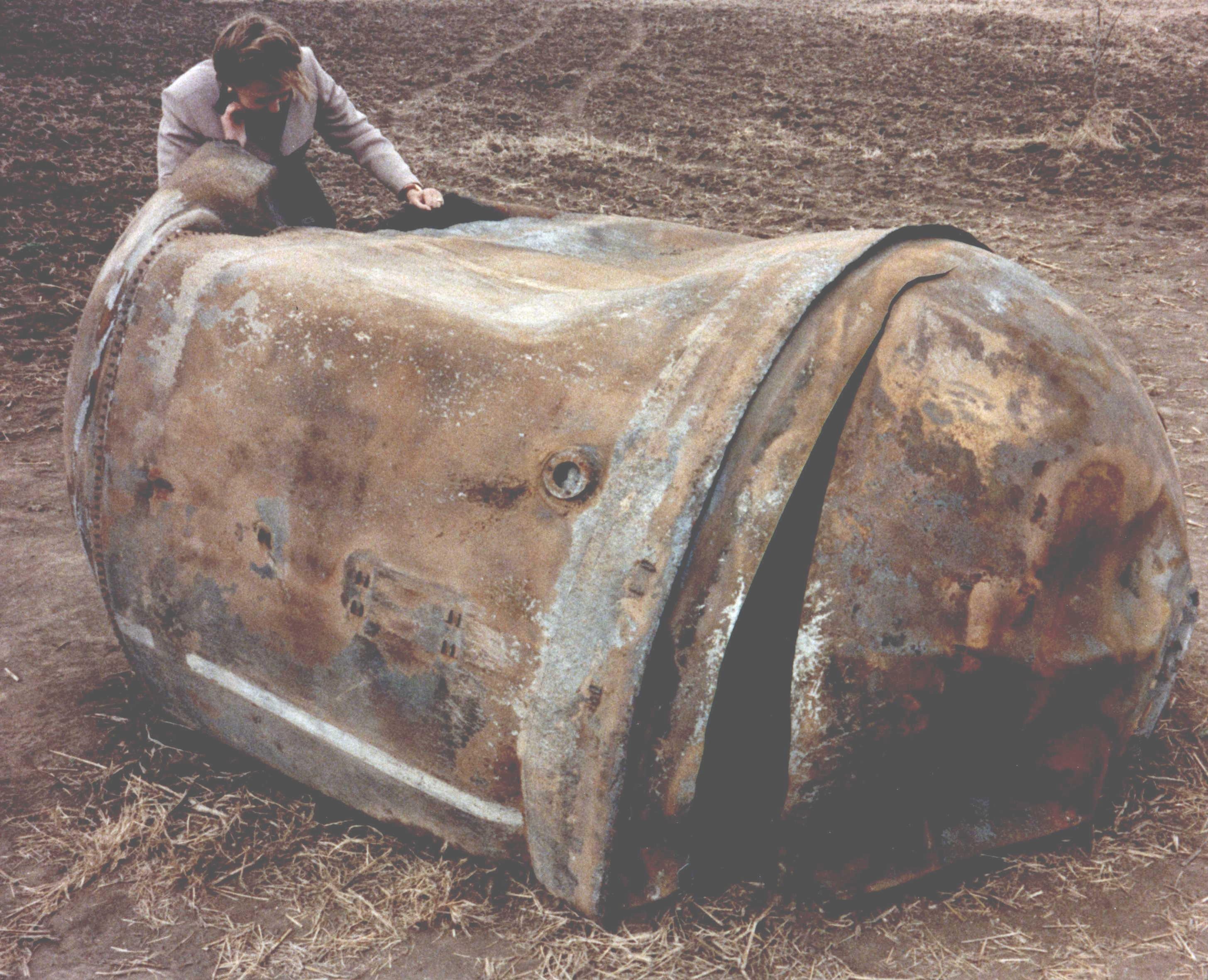 Tank einer Delta 2 in Texas
