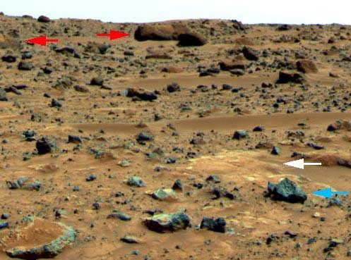 Gestein auf dem Mars, Bild: NASA