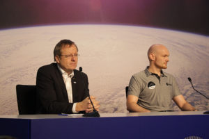 ESA Generaldirektor Wörner, Astronaut Gerst Foto: Ute Gerhardt